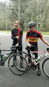 Kaydee Raths and Jacky Schuler after their ride, still smiling!